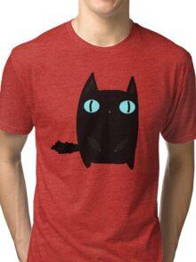 Fat Black Cat Tri-blend T-Shirt