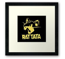 RAT TATA - RATATAT Music Band Mashup Framed Print