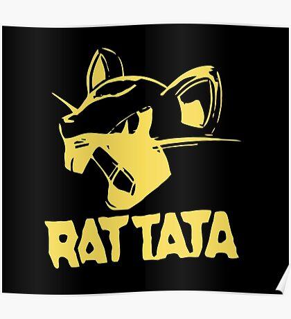 RAT TATA - RATATAT Music Band Mashup Poster