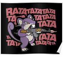 RATATATATATATATATAT FUNNY MOUSE RAT Poster