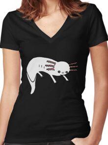 Axolotl Max Women's Fitted V-Neck T-Shirt