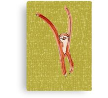 Dancing Sloth Canvas Print