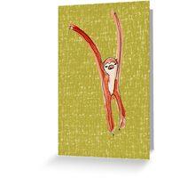 Dancing Sloth Greeting Card