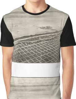Panoramic Maps City and harbor of Port Arthur Texas Graphic T-Shirt
