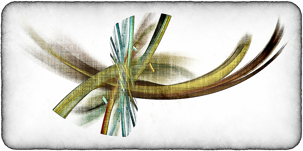 Feathers and Twist (and an Eye, maybe??) a.k.a. Abstract_120612/2 by Benedikt Amrhein