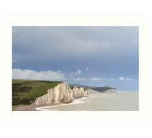 Seven Sisters Cliffs  sussex UK Art Print
