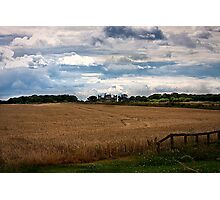 Over the fields towards Seaton Delaval Hall Photographic Print