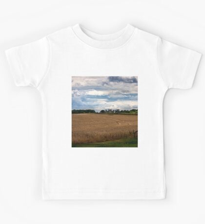 Over the fields towards Seaton Delaval Hall Kids Tee