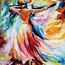 WALTZ - OIL PAINTING BY LEONID AFREMOV by Leonid  Afremov