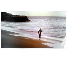 Sunset Surfer Poster