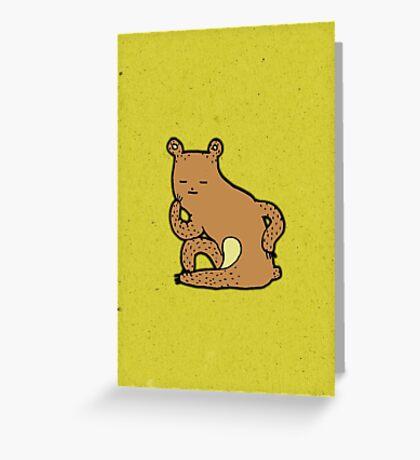 Thinking Bear Greeting Card