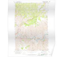 USGS Topo Map Washington State WA Fields Spring 241136 1971 24000 Poster