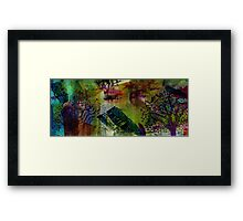In the Land of Purple Trees Framed Print