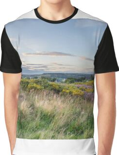 Purple Heather in flower at sunset  Graphic T-Shirt