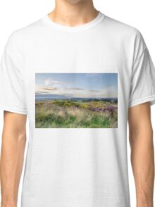 Purple Heather in flower at sunset  Classic T-Shirt