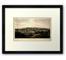 Panoramic Maps Staunton Va drawn from nature by Ed Beyer W Rau 003 Framed Print