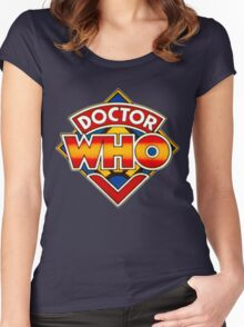 Doctor Who Logo. Women's Fitted Scoop T-Shirt