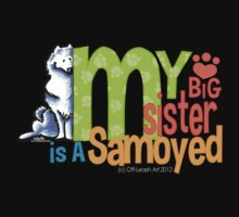 Big Sister Samoyed One Piece - Short Sleeve