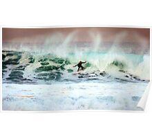 Bells Beach Surfing Poster