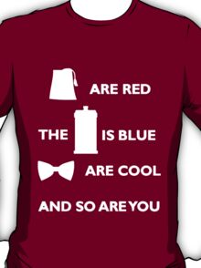 Doctor Who Poem. T-Shirt