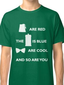 Doctor Who Poem. Classic T-Shirt