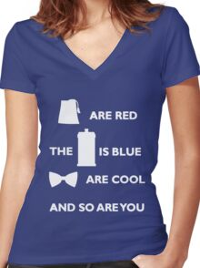 Doctor Who Poem. Women's Fitted V-Neck T-Shirt