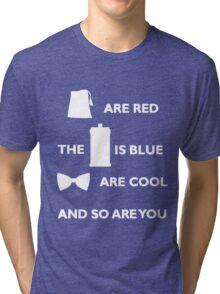 Doctor Who Poem. Tri-blend T-Shirt