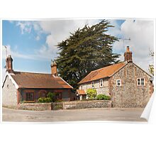 Building, Houses, Traditionsl, Weybourne, Norfolk Poster
