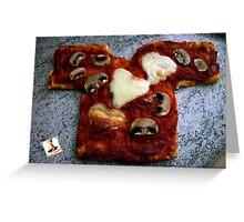 Pizza T-shirt OM NOM ^^ Greeting Card