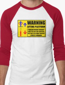 Health And Safety On Mars Men's Baseball ¾ T-Shirt