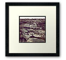 Ogmore rocks Framed Print