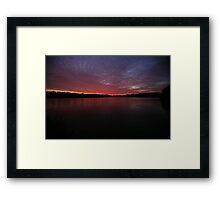 Colemere Sunset Framed Print