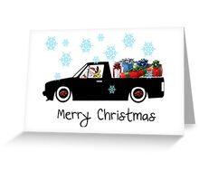 Santa caddy Greeting Card