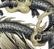 Lucky Chinese Dragon In Grey and Gold Sticker