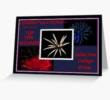 TOP TEN BANNER WINNER~ Greeting Card