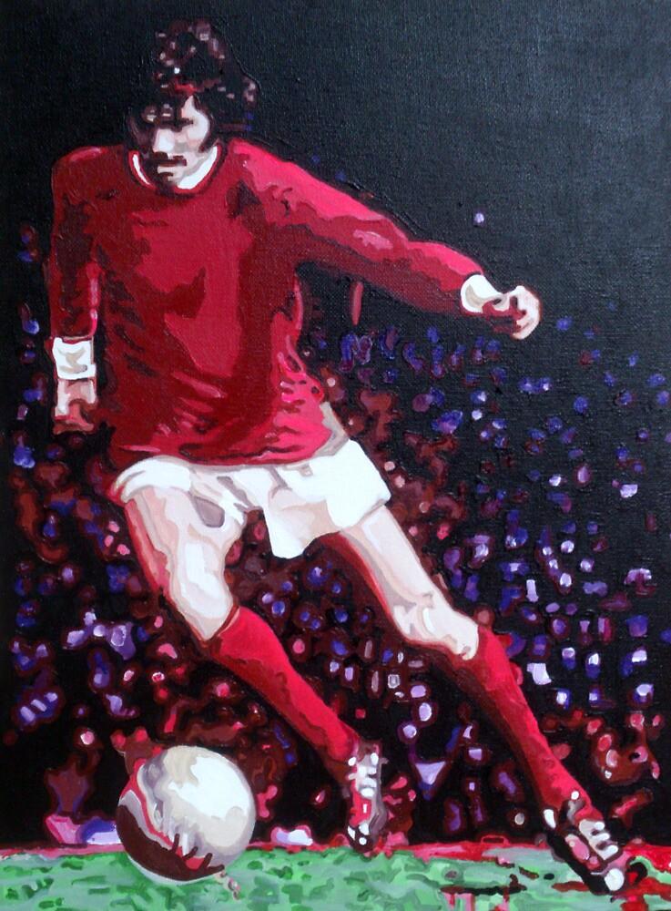 George Best in pop art by db Artstudio by Deborah Boyle