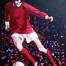 George Best in pop art by db Artstudio by Deborah Boyle
