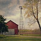 Midwest Farm with Wind Vane by ktryon