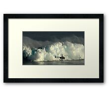 At Peahi Framed Print