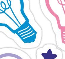Cute Pastel Lightbulbs Sticker