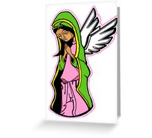 SHE WHO PRAYED FOR FORGIVENESS (NO BACKGROUND) Greeting Card