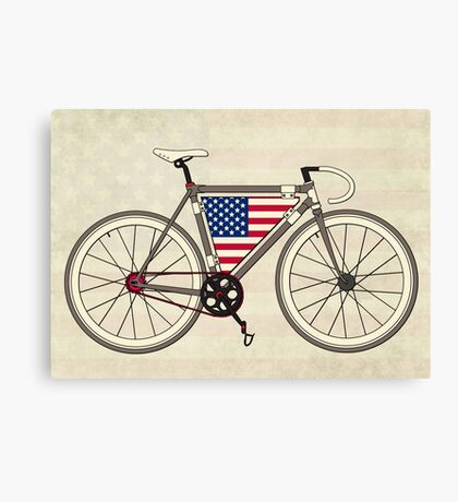 Love Bike, Love America Canvas Print