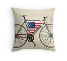 Love Bike, Love America Throw Pillow