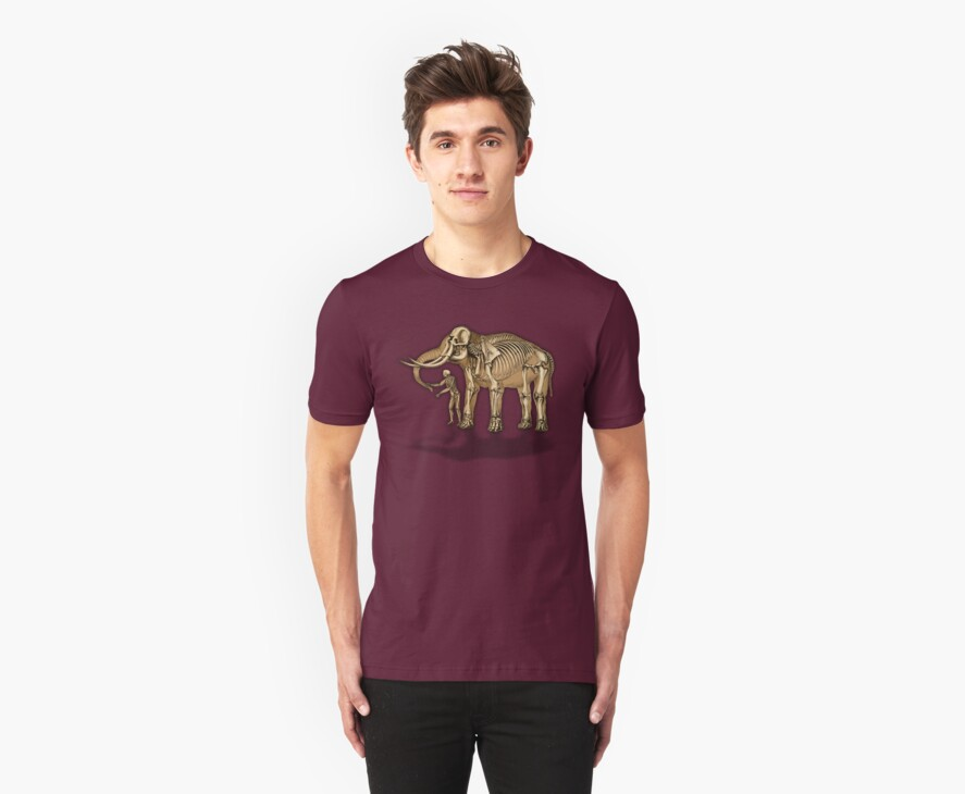 Comparative anatomy - Elephant and man by Artificialx