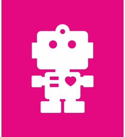 Robot - mageneta & white Sticker