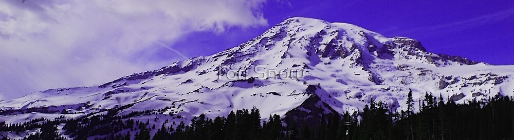 Purple Mt. Rainier by Tori Snow