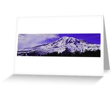 Purple Mt. Rainier Greeting Card