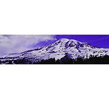 Purple Mt. Rainier Photographic Print