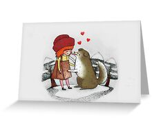 Red Riding Hat Greeting Card