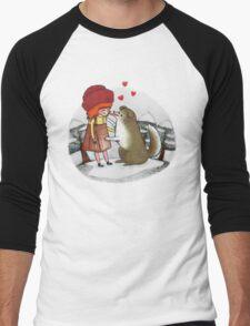 Red Riding Hat Men's Baseball ¾ T-Shirt